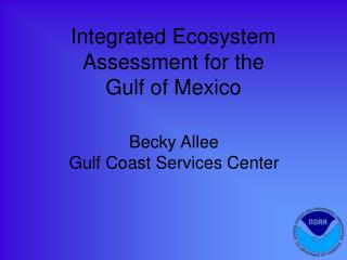 Integrated Ecosystem Assessment for the  Gulf of Mexico