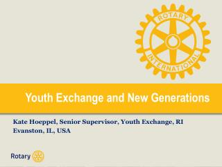 Youth Exchange and New Generations