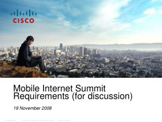 Global Sales Meeting The Rise of the Mobile Internet Rev 2