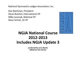 NGJA National Course 2012-2013