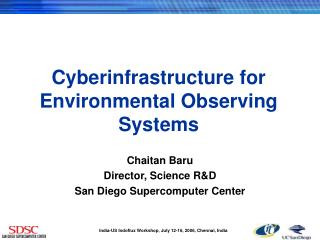 Cyberinfrastructure for Environmental Observing Systems