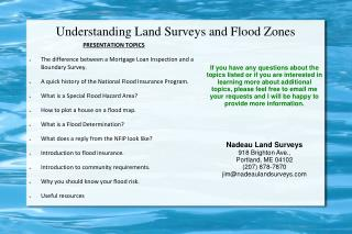 Understanding Land Surveys and Flood Zones
