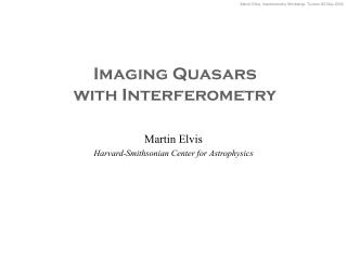 Imaging Quasars with Interferometry