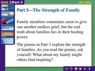 Part 3— The Strength of Family