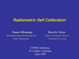 Radiometric Self Calibration