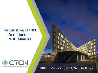 Requesting  CTCN Assistance - NDE  Manual