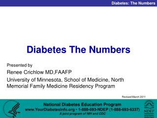 Diabetes The Numbers
