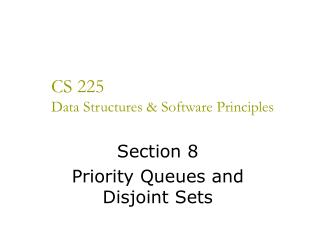 CS 225 Data Structures & Software Principles