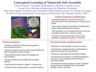 Conceptual Learning of Nanoscale Self-Assembly