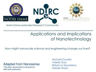 Applications and Implications  of Nanotechnology