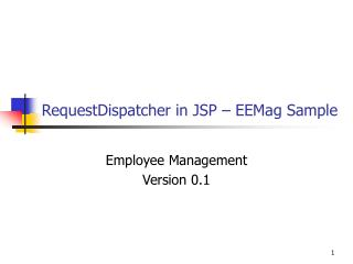RequestDispatcher in JSP – EEMag Sample