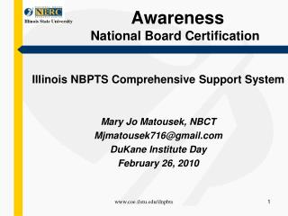 Awareness   National Board Certification