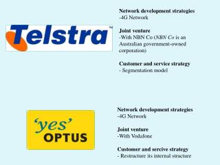 Network development  strategies 4G Network Joint  venture