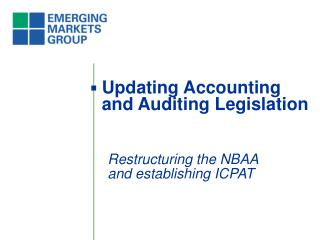 Updating Accounting and Auditing Legislation
