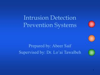 Intrusion Detection Prevention Systems