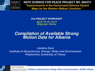 NATO SCIENCE FOR PEACE PROJECT NO. 984374