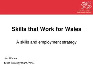 Skills that Work for Wales