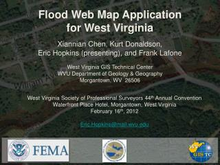 Flood Web Map Application for West Virginia