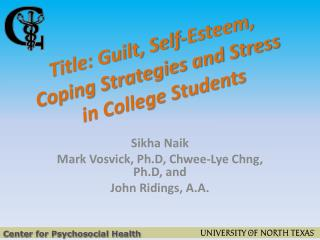 Title: Guilt, Self-Esteem, Coping Strategies and Stress in College Students