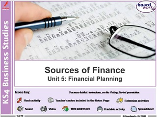 Sources of Finance Unit 5: Financial Planning