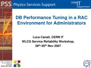 DB Performance Tuning in a RAC Environment for Administrators