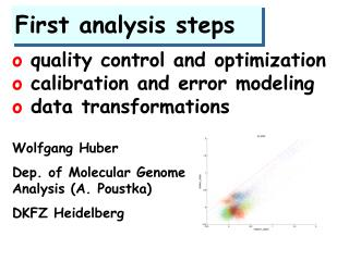 First analysis steps