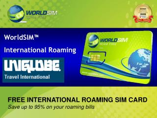 WorldSIM™  International Roaming