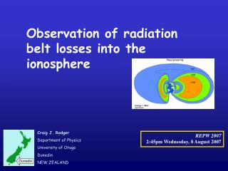 Observation of radiation belt losses into the ionosphere