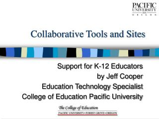 Collaborative Tools and Sites