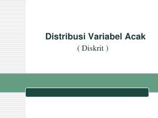 Distribusi Variabel Acak