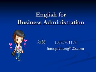 English for  Business Administration