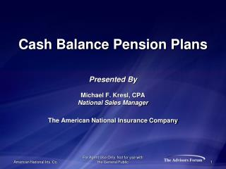 The AMERICAN NATIONAL INSURANCE COMPANY  (ANICO)