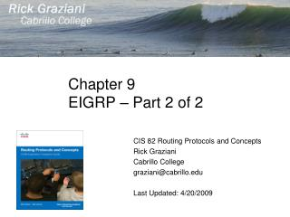 Chapter 9 EIGRP – Part 2 of 2