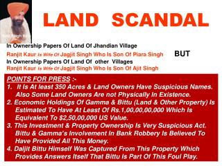 LAND  SCANDAL