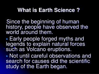 What is Earth Science ?