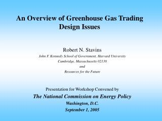 An Overview of Greenhouse Gas Trading Design Issues
