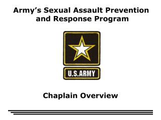 Army's Sexual Assault Prevention  and Response Program