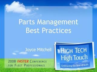 Parts Management    Best Practices