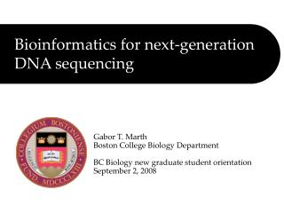 Bioinformatics for next-generation DNA sequencing