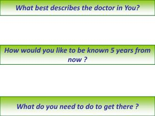 What best describes the doctor in You?