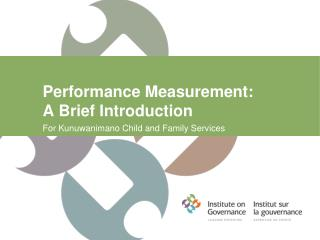 Performance Measurement:  A Brief Introduction