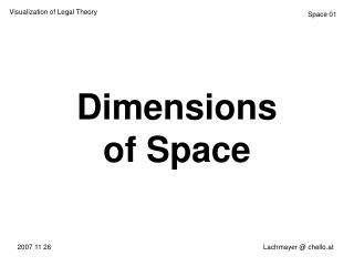 Dimensions of Space