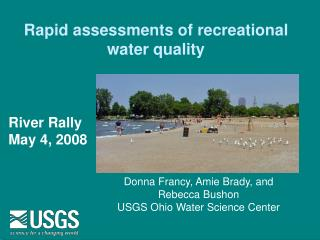 Rapid assessments of recreational water quality