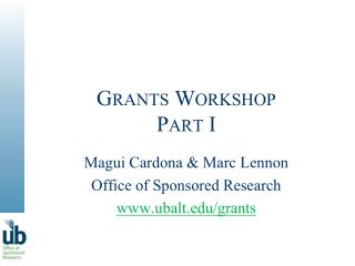 Grants Workshop Part I