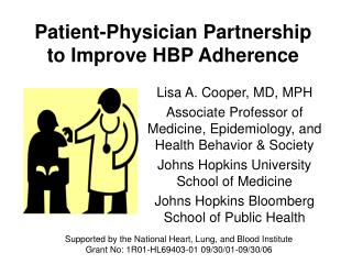 Patient-Physician Partnership to Improve HBP Adherence
