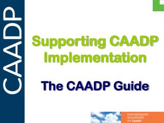 Supporting CAADP Implementation The CAADP Guide