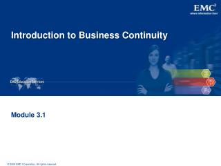 Introduction to Business Continuity