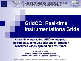GridCC: Real-time Instrumentations Grids
