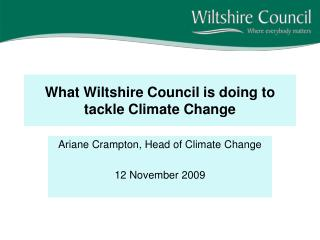 What Wiltshire Council is doing to tackle Climate Change