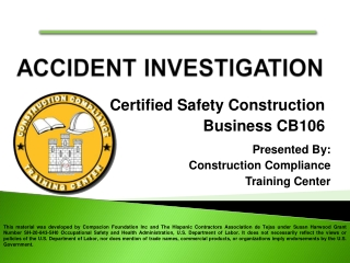 Certified Safety Construction Business CB106